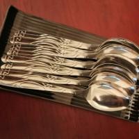 sendok motif batik / sendok stainless steel (6pcs)