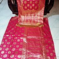 Songket Mesin Motif Lepus Palembang Pink 20417