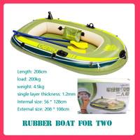 Perahu karet dua orang (perahu karet kayak) distribusi pompa dayung