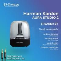 Harman Kardon Aura Studio 2 Wireless Bluetooth Speaker - Hitam - Free Aux
