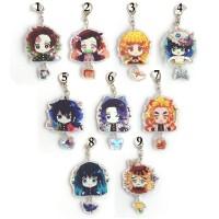 Gantungan kunci akrilik 2 sisi anime kimetsu no yaiba