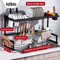 Angola Rak Piring Wastafel G01/G05 Stainless Rak Dapur Serbaguna