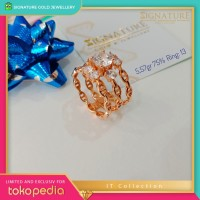 Cincin Emas IT collection Ring Rose Gold. 0866