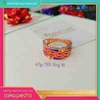 Cincin Emas IT collection Ring Rose Gold. 0165