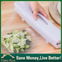 Plastic Small Film Wrap Cling Dispenser Food Storage Holder Cutter