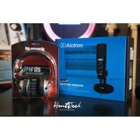 Paket Podcast Alctron Cu58 numark Hf125 headphone