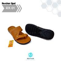 Pusat Sandal Sendal Pria Cowok Kulit Premium Kekinian Rexthor 01