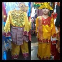 Pakaian baju adat anak gorontalo size S - M Lk/Pr BERKUALITAS