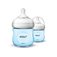 Philips Avent Natural Polypropylene Bottle - Blue (Twin)