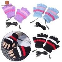 1Pair USB Powered Heated Gloves Electric Thermal Gloves Hand