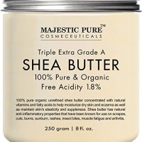 Majestic Pure Shea Butter, Natural Skin Care, Organic Virgin Cold-Pres