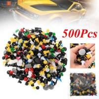 500Pcs / Set Klip Pengencang Bumper Mobil Bahan Plastik Warna