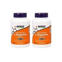 Now Foods L-Arginine 1000mg, 120 Tablets (2 Pack)