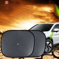 2Pcs Tirai Jendela Mobil Anti UV dengan Suction Cup