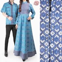 SB Collection Couple Dress Maxi Julia Longdress Gamis Dan Kemeja Batik