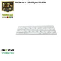 iPearl MacBook Air 11 Colorful Pelindung Keyboard Protector Skin White