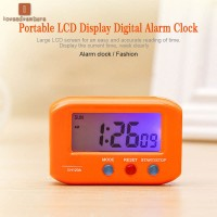 Portable Small LCD Digital Time & Date Alarm Clock Stop Snooze