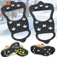 1 Pasang Crampons Sepatu Es Anti Slip untuk Hiking