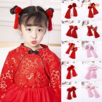 Baby Girls Hair Accessories Chinese Ribbon Girls Headpiece Hairpins