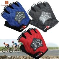 Sarung Tangan Half Finger Bahan Breathable Anti Slip untuk Sepeda