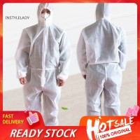 ☀In Unisex Disposable Non Woven Hood Isolation Gown Waterproof