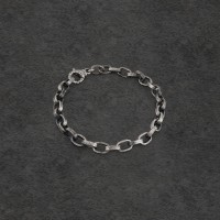 Rough Big Chain Sterling Silver Bracelet
