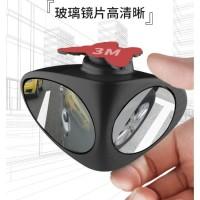 Blind Spot Mirror KIRI Kaca Spion 2in1 Wide Angle 360 Spion Mobil