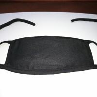 Masker Kain Hijab 2 Lapis Warna Hitam