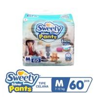 SWEETY SILVER PANTS S66/M60/L54/XL44/XXL36 (FULL FREE ONGKIR)