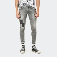 Celana Jeans Panjang CELCIUS DENIM Pants Skinny A07111C Grey Patch