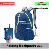Promo !!!!!! Naturehike Folding Backpack 22 L Tas Ransel Lipat Summit