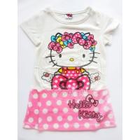mini dress anak perempuan hello kitty putih original sanrio