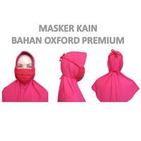 Masker Kain Wajah Mulut Model Tali Panjang Bahan Oxford Bisa Dicuci