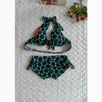 bikini set bra ikat celana serut baju renang pantai wanita 313