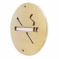 """5-7/8"""" Plat Tanda Larang Merokok / Brass Sign - No Smoking"""