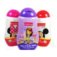 Eskulin Kids Hair and Body Wash Shampoo & sabun bayi 280 ml