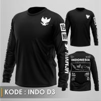 KAOS DISTRO - KAOS INDONESIA D3 LS