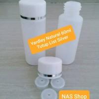 Botol Yardley 60ml / Yadley 60ml Natural List Silver
