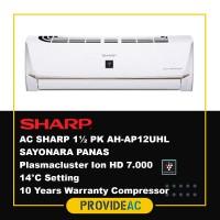 AC SPLIT SHARP 1.5 PK R32 SAYONARA PANAS NON INVERTER - AH-AP12UHL