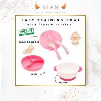Baby Suction Bowl Mangkok Tempat Makan Bayi Set Sendok Anti Tumpah