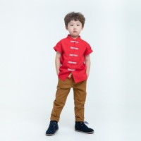 HEYTIMMY Cheongsam Anak Katun Hide Red