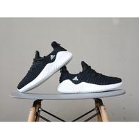 sepatu olahraga running sneakers adidas import berkualitas full black