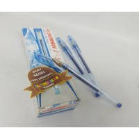 Pulpen Snowman V3 Blue - Gel Ink Type 0.5mm - Isi 12