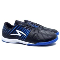 Sepatu Futsal Specs Barricada Lea 19 IN - Black/Tulip Blue