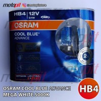 Osram CBA HB4 Cool Blue Advance Lampu Halogen Putih 5000K 12V 51W