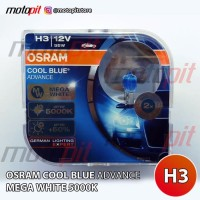Osram CBA H3 Cool Blue Advance Lampu Halogen Putih 5000K 12V 55W