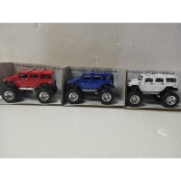 Mainan anak diecast kinsmart miniataur mobil hummer truck - HUMMER