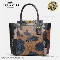 Coach Troupe Tote In Signature Canvas With Kaffe Fasset Print Original