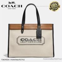 Coach Tote Bag Field 30 With Coach Badge - Tas Coach Original 100%