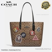 Coach Star Wars x Town Tote Bag With Patches Tas Coach Original 100%